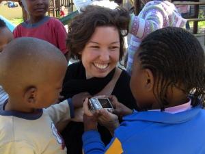 SLF Communications Officer Gillian Mathurin in Khayelitsha