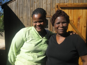 Jabu with another Hillcrest bead worker