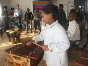 Watching young musicians at Etafeni