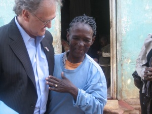 Stephen with Gogo Maria in Molweni