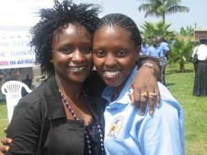 Aissatou and Angela, the granny coordinator