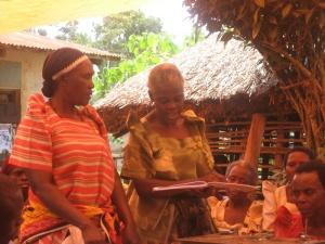 At the granny savings and loan meeting