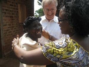 Stephen and Aissatou with grandmother Jaliya
