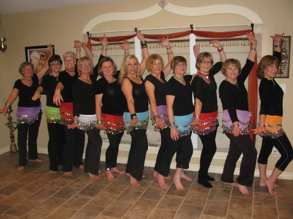 Port Perry G-Moms prepare to belly dance