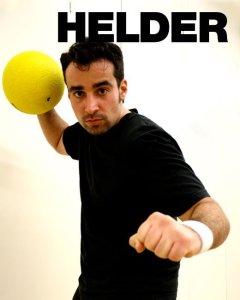 Helder Brum and his trusty dodgeball